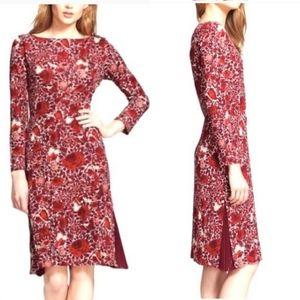 Tory Burch Ria Cabernet Kyoto Floral Shift Dress